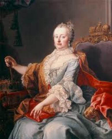 Maria Theresa inherits all Hapsburg territories of Austria