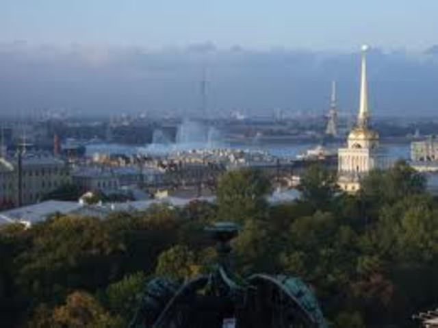 The city of St. Petersburg is founded