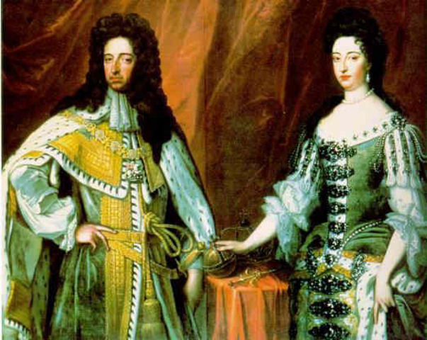 William of Orange and Mary sign the Bill of Rights
