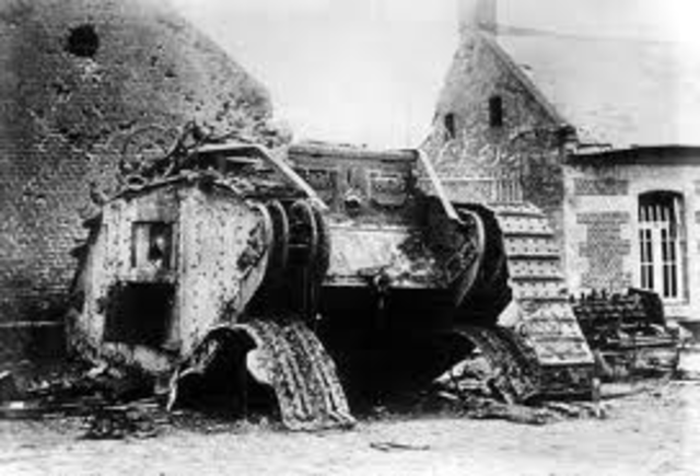 First armored tank used in battle.