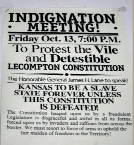 Lecompton Constitution Rejected