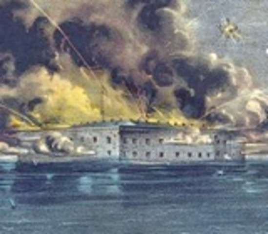 Civil War Begins with Attack on Fort Sumter, NC