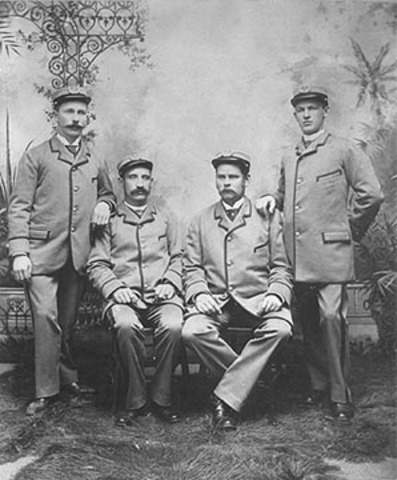 Post Office people in 1884
