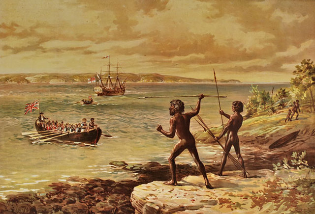 'Discovery' of Australia by James Cook