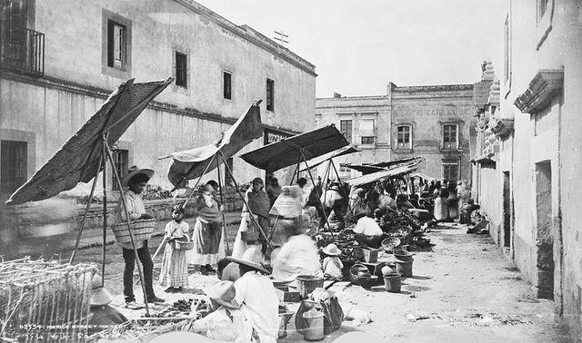 Street market in 1885