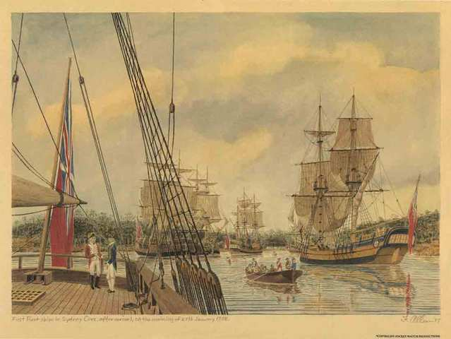 Arrival of the first fleet