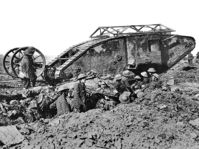 The first tank used in battle