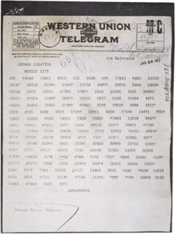 The Zimmermann telegram is published