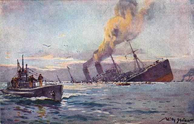 The Germans Blockade Great Britain