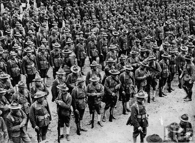 First American Troops Arrive in France