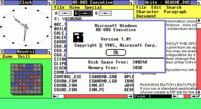 Lançado o Windows 1.0