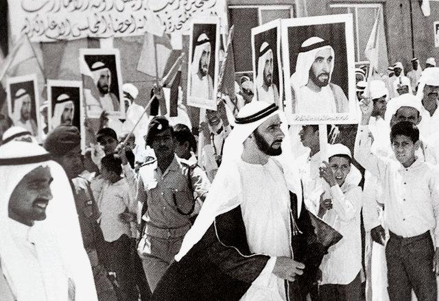 Sheikh Zayed visiting the Northern Emirates