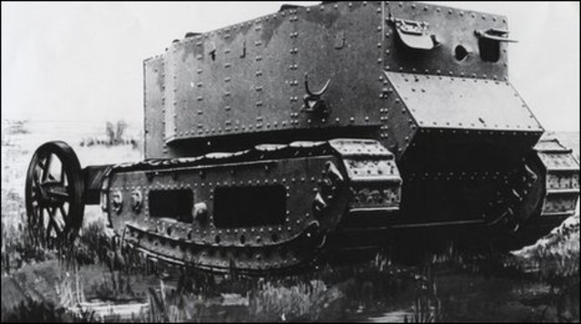 The first tank is produced