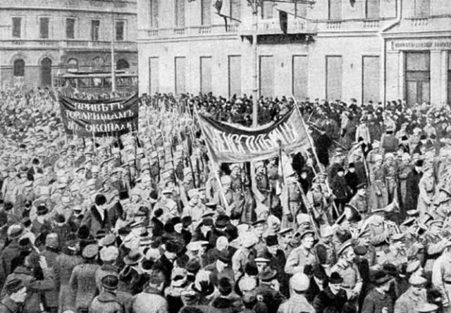 Revolution begins in Russia