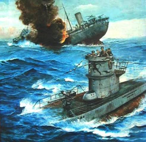 Germany sinks 4 American ships