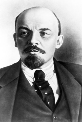 Vladimir Lenin overthrows the democratic Russian government and sets up a Communist state