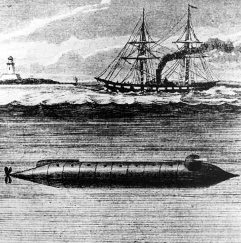 First submarine used