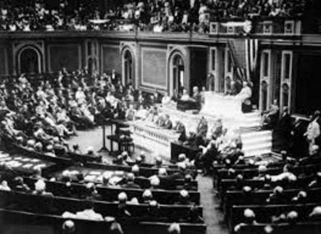 Wilson adresses congress