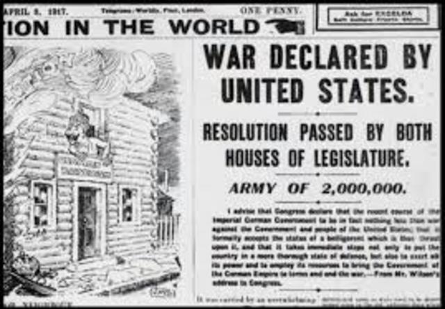 America joins war