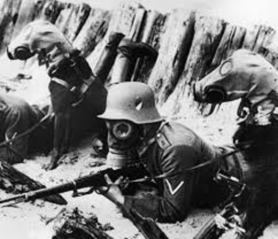Poison gas first used