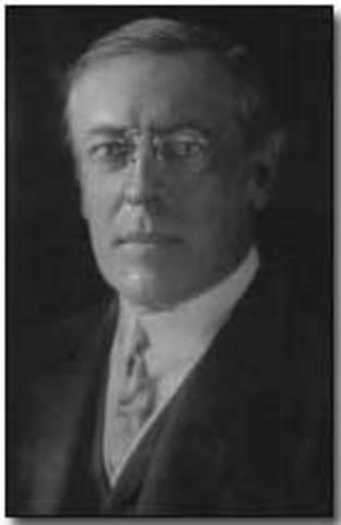 Wilson requests declaration of war