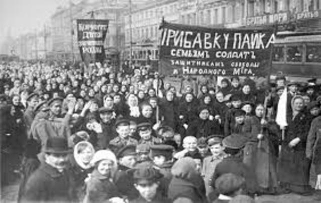 Bolsheviks revolt against Russian government
