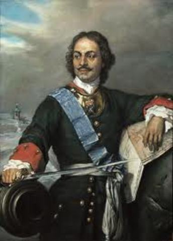 Peter The Great goes on The Great Embassy