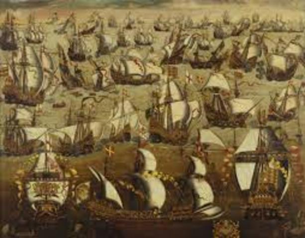 Philip II launches the Spanish Armada