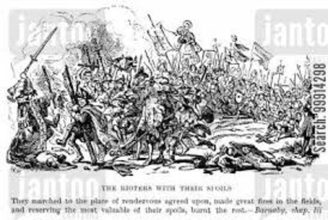 Protestant mobs swept through Catholic churches