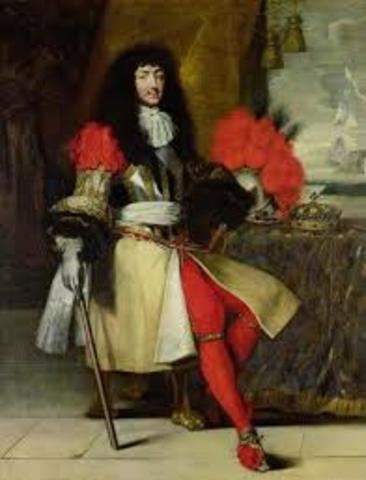 Louis XIV became king