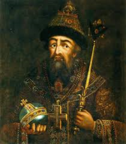when did Ivan the Terrible takes the throne