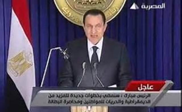 Mubarak fixes problems.