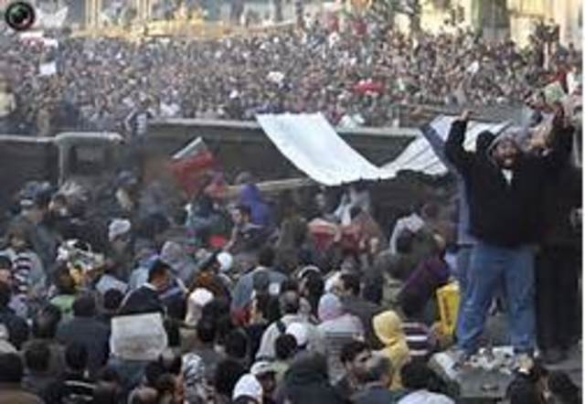Down with Mubarak
