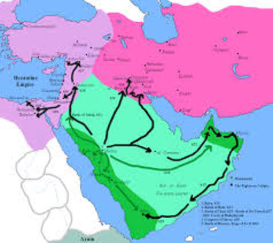 The year of the Hijra: Muhammad and the Muslims migrate from Mecca to Medina.