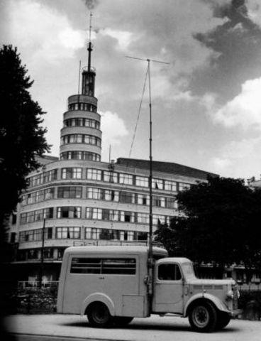 Flageygebouw van het NIR wordt ingenomen door de Duitsers bij het uitbreken van WOII