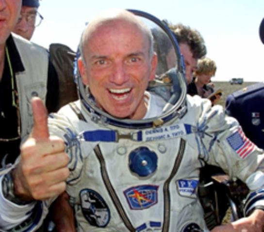 First Non-Astronaut to Enter Space
