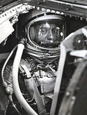 The First American In Space!