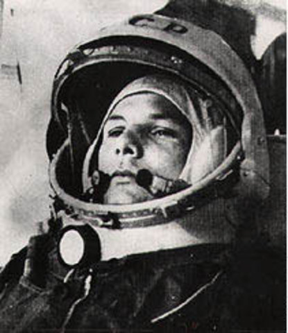 The First Person in Space!