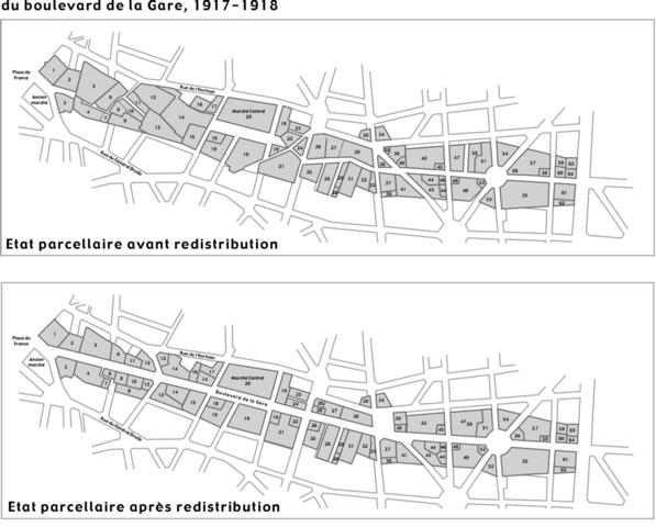 redistribution des parcelles du bd de la gare