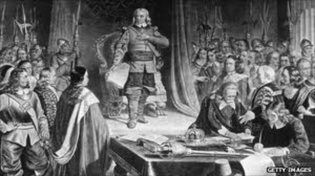 Cromwell abolished the monarchy and the House of Lords