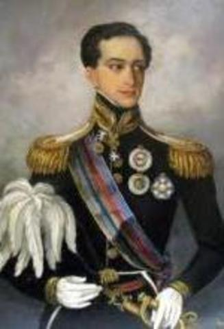 D. Miguel abandona Portugal.