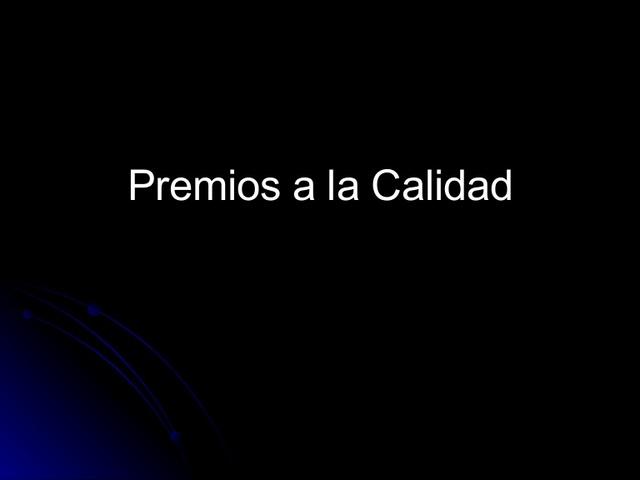 EL PREMIO DE DEMING