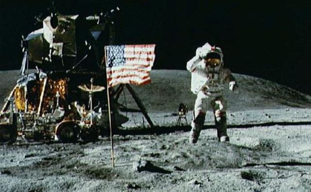 Touchdown on the moon: first men on the Moon