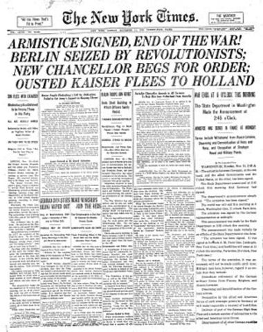 """The Signing of the """"Armistice"""""""