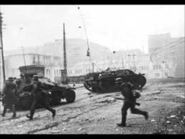 German invade France and Netherlands