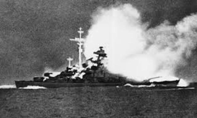The Bismarck ship is sunk