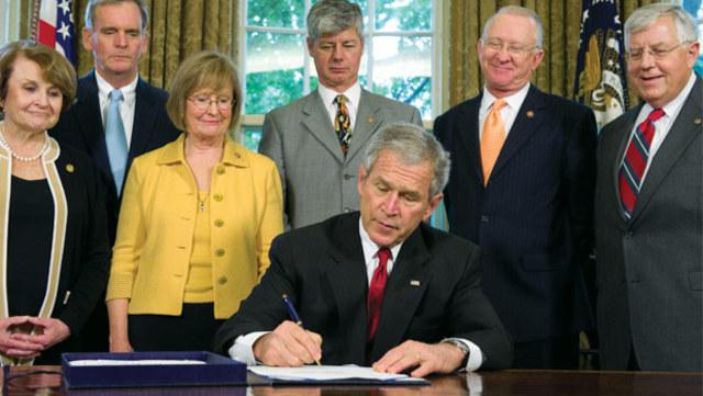 Bush signs Genetic Information Non-Discrimination Act (GINA)