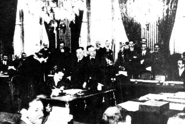 Firma del Tratado de Versalles.