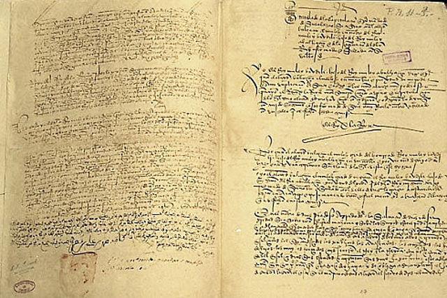 Capitulaciones por la entrega de Granada.