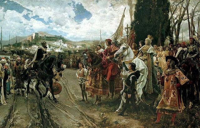 Toma de la ciudad de Granada por los Reyes Católicos.